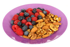 Mixed Berries and Nuts Royalty Free Stock Photo