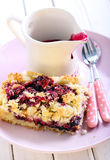 Mixed berry and fruit cake Stock Photography