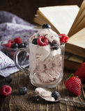 Mixed Berry ice cream. Frozen yogurt Royalty Free Stock Photo