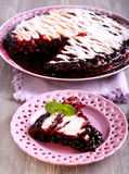 Mixed berry lattice toping pie Stock Image