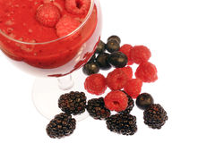 Mixed berry smoothie Stock Photos