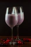mixed berry yoghurt smoothie Stock Photos