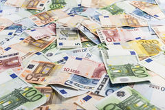 Mixed bills of Euro Stock Photography