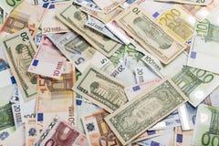 Mixed bills of Euro Royalty Free Stock Image