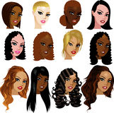 Mixed Biracial Women Faces Royalty Free Stock Images