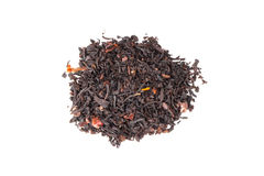 Mixed black Truffle spicy tea isolated on white, top view Royalty Free Stock Photos