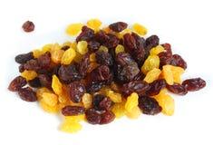 Mixed black and white raisins royalty free stock photos