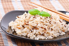 Mixed boiled rice Stock Photo