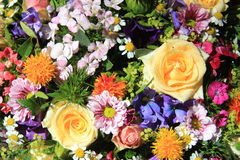 Mixed bouquet in bright colors Royalty Free Stock Images