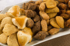 Mixed brazilian snack. Royalty Free Stock Images
