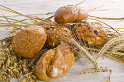 Mixed bread rolls Stock Image
