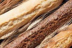 Mixed breads closeup royalty free stock image