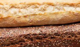 Mixed breads closeup stock images