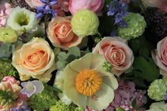 Mixed bridal arrangement Royalty Free Stock Images