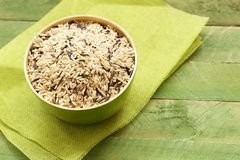 Mixed brown and black wild rice Royalty Free Stock Photos
