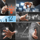 Mixed business man action Stock Image