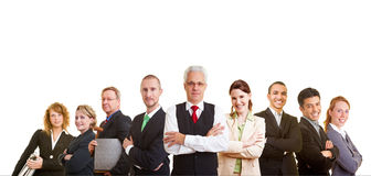 Mixed business team royalty free stock photo
