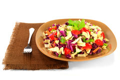 Mixed cabbage salad and peppers Stock Images