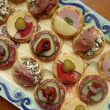 Mixed Canapes. Stock Photos