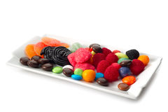 Mixed candy. On white background royalty free stock images