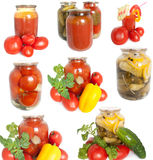 Mixed canned vegetables Stock Images