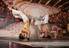 Mixed Capoeira Experts Royalty Free Stock Photo