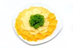 Mixed cheese diner platter from different Royalty Free Stock Photo