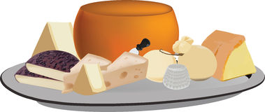 Mixed cheese milk Royalty Free Stock Image