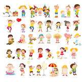 Mixed children. A Illustration of mixed children Stock Image