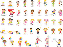 Mixed children Stock Photo