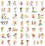 Mixed children royalty free stock images