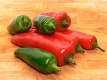 Mixed chilis Royalty Free Stock Images