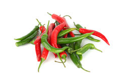 Mixed chilli pile Stock Image