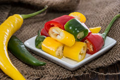 Mixed Chillis Stock Photography