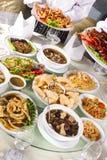 Mixed chinese food Royalty Free Stock Photos