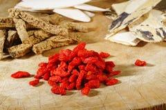 Mixed chinese herb set Royalty Free Stock Image