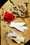 Mixed chinese herb Stock Photography