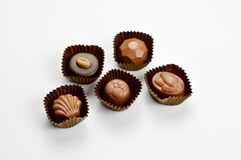 Mixed chocolate candies royalty free stock images