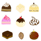 Mixed chocolate hand-drawn illustration Stock Image