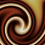 Mixed chocolate swirl royalty free stock image