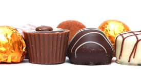 Mixed Chocolates royalty free stock image