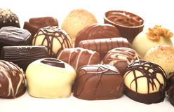 Mixed Chocolates. A collection of mixed chocolates royalty free stock image