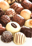Mixed Chocolates. A collection of mixed chocolates royalty free stock images