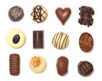 Mixed Chocolates. A collection of mixed chocolates stock photography