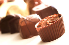 Mixed Chocolates Royalty Free Stock Image