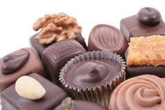Mixed chocolates Stock Photo