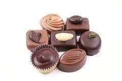Mixed chocolates Stock Photos