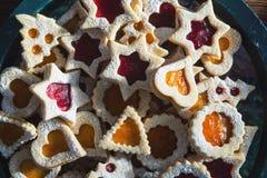 Mixed Christmas cookies stock photos