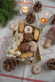 Mixed Christmas Cookies Stock Image