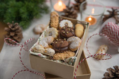 Mixed Christmas Cookies. Home made mixed Christmas Cookies Royalty Free Stock Photos